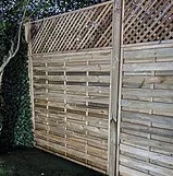Decorative panels are popular among our customers and would like a fence to look different from others. Some types even come with a trellis effect.